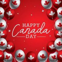 conceito de fundo do dia canadense vetor