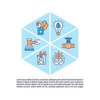 ícones de linha de conceito de segurança energética com texto vetor