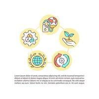 ícones de linha de conceito de proteção ambiental com texto vetor