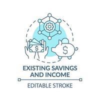 ícone do conceito de economia e renda existente vetor