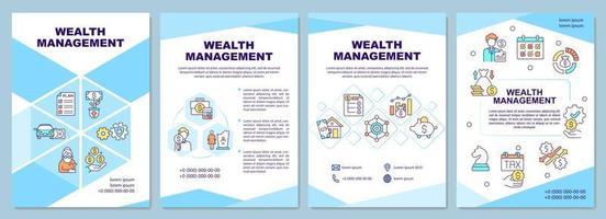 modelo de folheto de gestão de patrimônio vetor