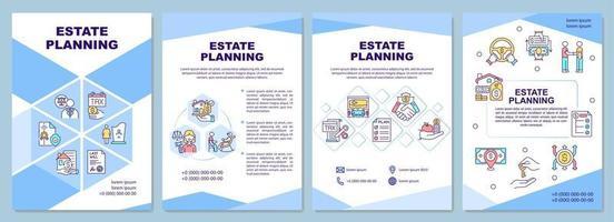 modelo de folheto de planejamento imobiliário vetor