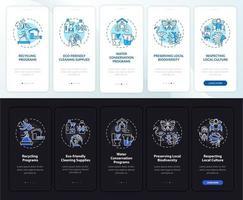 hotel ecológico apresenta tela de página de aplicativo móvel de integração com conceitos vetor