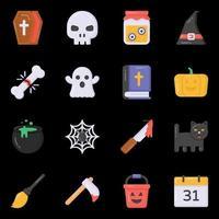 elementos assustadores de halloween vetor