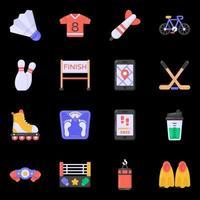 ícones de jogos e equipamentos vetor