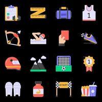 ícones de esportes e recreação vetor