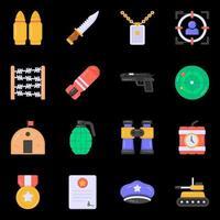 ícones militares e de guerra vetor