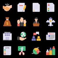 ícones de eleição e documento vetor