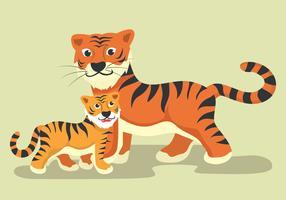 Mamãe Animal E Bebê vetor