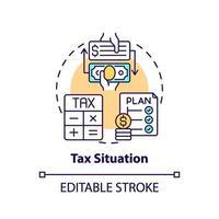 ícone do conceito de situação fiscal vetor