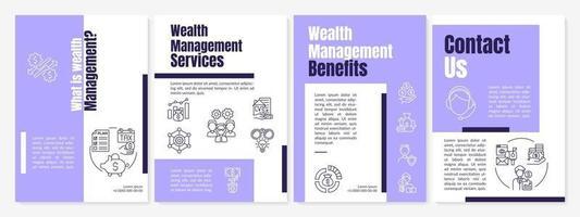 o que é o modelo de folheto de gestão de patrimônio vetor