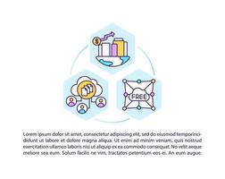 ícones de linha de conceito de sociedade digital com texto vetor