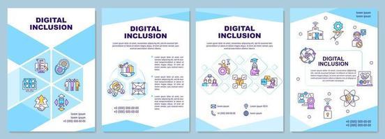modelo de folheto de inclusão digital vetor