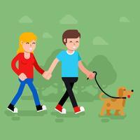 Família cão vetor