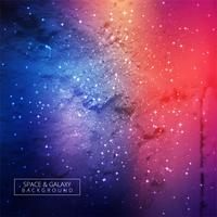 Fundo colorido bonito da galáxia vetor
