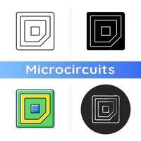 ícone de marca de canto da CPU vetor