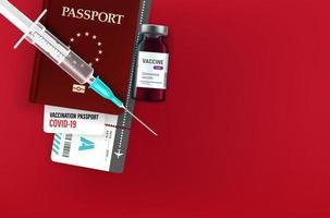 conceito de passaporte de vacinação com espaço de cópia vetor