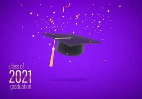 turma de graduação de 2021 vetor