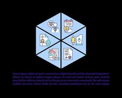 ícones de linha de conceito de planejamento imobiliário com texto vetor