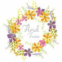 Fundo de flores em aquarela de colroful de casamento vetor