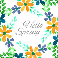 Fundo aquarela floral moderna Primavera colorida vetor
