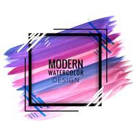Mão moderna elegante desenhar traçado aquarela fundo colorido vetor