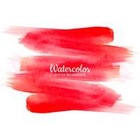 Mão de aquarela abstrata vermelha desenhar fundo do traçado vetor