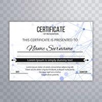 Ilustração de fundo abstrato modelo de certificado vetor
