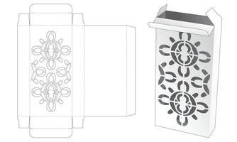caixa de embalagem de lata com molde de estêncil de mandala cortado vetor