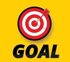 seta acertando o alvo e conceito de objetivo vetor