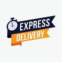 Sinal de etiqueta de entrega expressa para ilustração vetorial de promoção de banner vetor