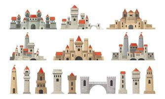 conjunto de torres do castelo vetor