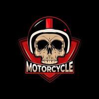 caveira de motocicleta com capacete vetor