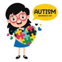 desenho do conceito de conscientização do autismo vetor