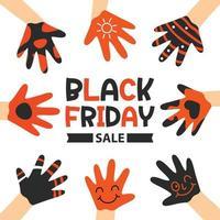 modelo de design de inscrição de venda sexta-feira negra vetor