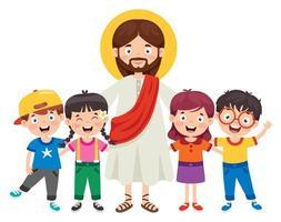 desenho animado de jesus cristo vetor