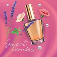 anúncio realista de perfume vetor
