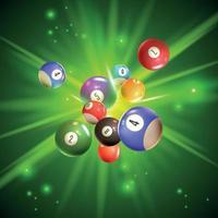 ilustração vetorial de ilustração de bolas de bingo vetor