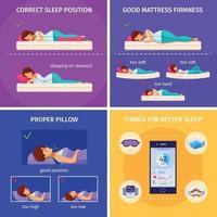 ilustração em vetor conceito de design melhor sono