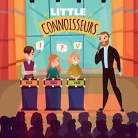 ilustração vetorial de show infantil questionário vetor