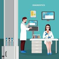 ilustração em vetor conceito multicolorido pessoas cientistas