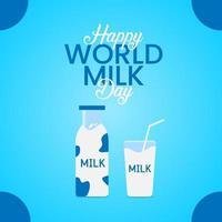 celebração do dia mundial do leite vetor