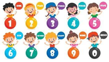 conceito de números multicoloridos vetor