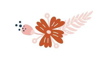 divisor de buquê de ilustração de flores silvestres de vetor de verão