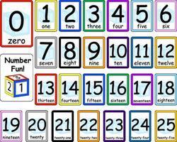 conjunto de cartões de memória flash de números vetor