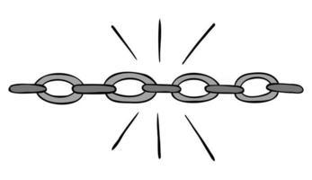 ilustração em vetor desenho animado de cadeia sólida forte