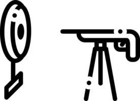 ícone de linha para tiro de rifle vetor