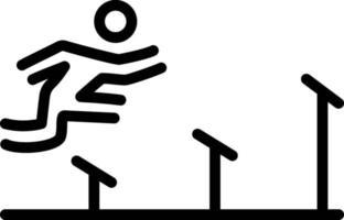ícone de linha para atletismo vetor