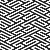 padrões sem emenda com labirinto preto e branco vetor