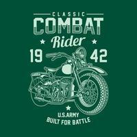 gráfico de vetor vintage americano militar motocicleta